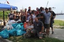 July 2014: Remington Beach Cleanup at Seaside Park, Bridgeport CT