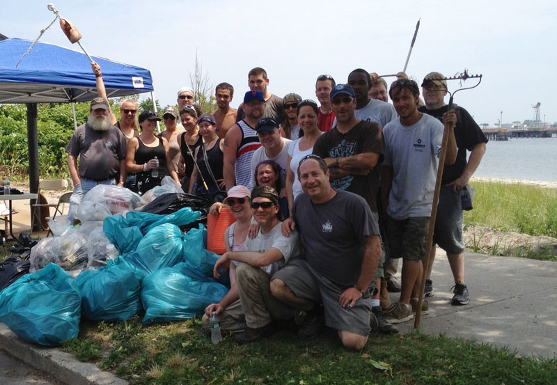 July 2014: Remington Beach Cleanup at Seaside Park, Bridgeport CT