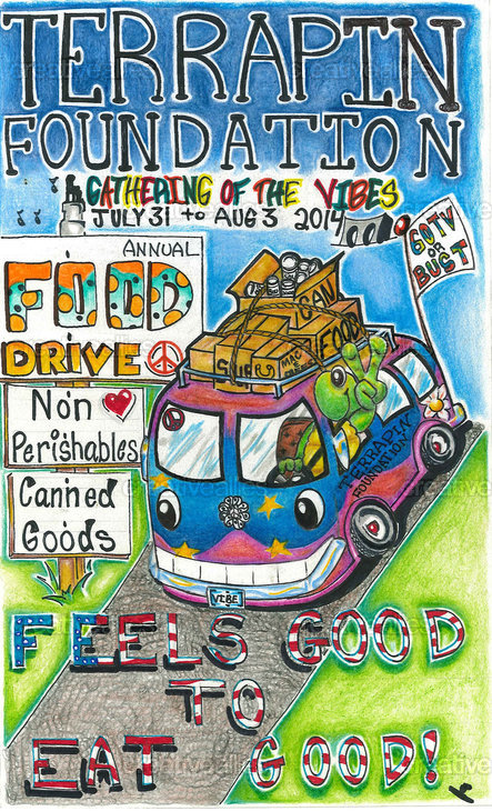 2014: Terrapin Foundation Poster Contest for the Food Drive at Gathering of the Vibes